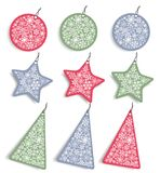 Christmas stickers and tags royalty free illustration