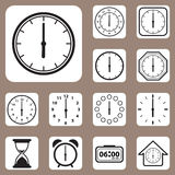 Vector Illustration, Set of Clock Icon for Design and Creative W Stock Image