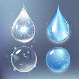 Vector illustration of Set collagen drops, water, transparent, hyaluronic acid. Stock Photos