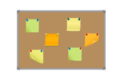 Vector illustration of a set of colored sticky papers pinned wit Stock Images