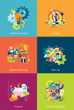 Vector illustration set of concepts for business and finance. Illustration set of concepts for business and finance Stock Photo