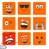 Vector illustration set of cool glossy Single Royalty Free Stock Image