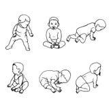 Vector illustration set of doodle children Stock Photography