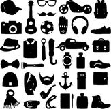 Vector illustration set of fashion accessories and men clothing style Royalty Free Stock Photos