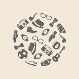 Vector illustration set of fashion accessories and style men clothing Stock Images
