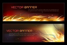 Illustration of set of fire flame banner. Vector illustration of set of fire flame banner Royalty Free Stock Image