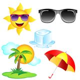 Vector Summer Elements Clipart Set Royalty Free Stock Photography