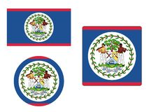 Set of Flags of Belize stock photography