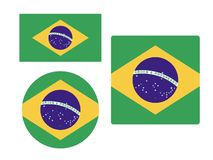 Set of Flags of Brasil. Vector illustration of the Set of Flags of Brasil royalty free illustration