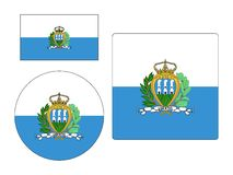 Set of Flags of San Marino. Vector illustration of the Set of Flags of San Marino vector illustration