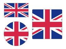 Set of Flags of United Kingdom. Vector illustration of the Set of Flags of United Kingdom royalty free illustration