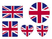 Set of Flags of United Kingdom. Vector illustration of the Set of Flags of United Kingdom stock illustration