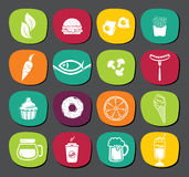 Set of food labels Stock Photography