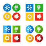 Vector illustration Set four seasons symbol Weather Royalty Free Stock Image