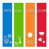 Vector illustration Set four seasons symbol Weather Royalty Free Stock Photography