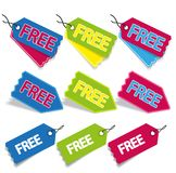 Free stickers and tags vector illustration