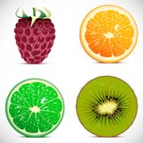 Vector illustration - set of fruits icons Royalty Free Stock Image