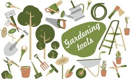 Garden tools icons Stock Photography