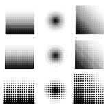 Vector illustration set of halftone. Stock Images