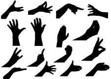 Vector illustration a set  hands Stock Image