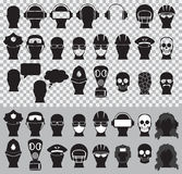 Head silhouettes Royalty Free Stock Photography