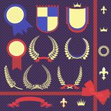 Vector illustration set of heraldry Stock Photography