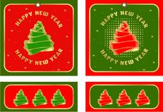 Set of christmas tags. Vector illustration set of holiday tags with christmas and new year with elements of festive decorations Stock Images