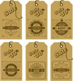 Set of christmas tags. Vector illustration set of holiday tags with christmas and new year with elements of festive decorations Royalty Free Stock Photography