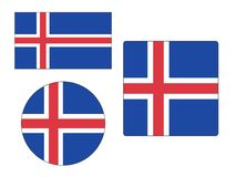 Set of Flags of Iceland vector illustration