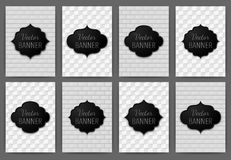 Vector illustration set of invitations banner a4 Stock Photo