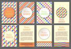 Vector illustration set of invitations banner a4 Stock Photos