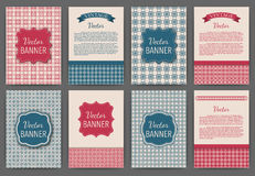 Vector illustration set of invitations . Vintage banners Stock Image