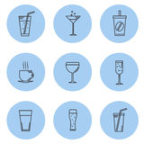 Vector illustration. Set kontturnyh lines Icon Stock Photography