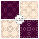 Vector illustration of a set of linear seamless patterns Royalty Free Stock Images