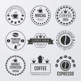 Vector illustration set of logos on coffee theme Royalty Free Stock Image