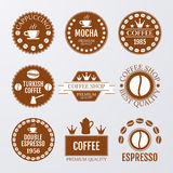 Vector illustration set of logos on coffee theme Stock Images