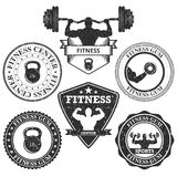Vector illustration set of logos fitness Royalty Free Stock Images