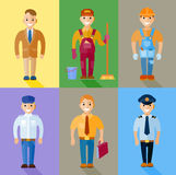 Vector illustration set of men of different professions Stock Image