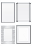 Vector illustration set of metal frames. Stock Images