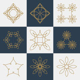 Vector illustration of a set of monograms Royalty Free Stock Photo