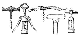 Free Vector Illustration Set Of Corkscrews Stock Photos - 64834203