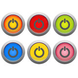 Set of on and off buttons Royalty Free Stock Photos