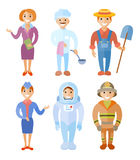 Vector illustration set of people of different professions Stock Images