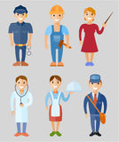 Vector illustration set of people of different professions Stock Photo