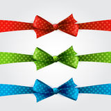 Polka dot bow Royalty Free Stock Photography