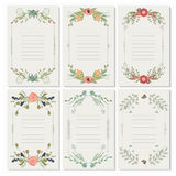Vector illustration of a set of postcards with flower wreaths Royalty Free Stock Photography