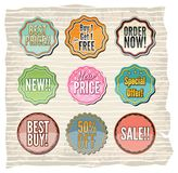 Set of retro badges and stickers Royalty Free Stock Photos