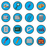 Vector illustration set for school icons flat design. Stock Images