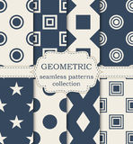 Vector illustration set of seamless geometric patterns Stock Photography
