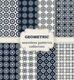 Vector illustration set of seamless geometric patterns Royalty Free Stock Photo